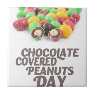 25th February - Chocolate-Covered Peanuts Day Tile
