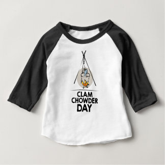 25th February - Clam Chowder Day Baby T-Shirt