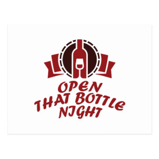25th February - Open That Bottle Night Postcard