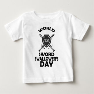 25th February - World Sword Swallower's Day Baby T-Shirt