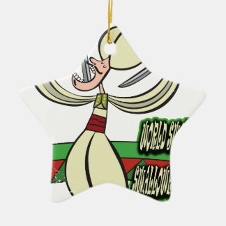25th February - World Sword Swallower's Day Ceramic Ornament