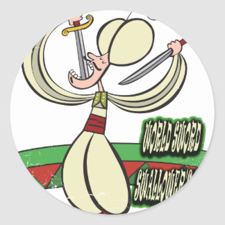 25th February - World Sword Swallower's Day Classic Round Sticker