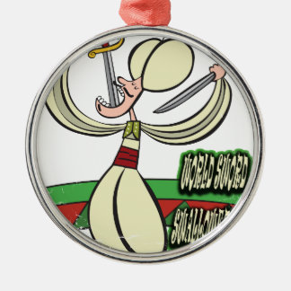 25th February - World Sword Swallower's Day Metal Ornament