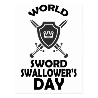 25th February - World Sword Swallower's Day Postcard