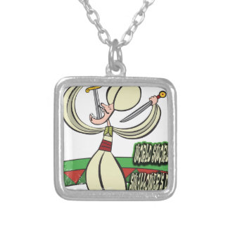 25th February - World Sword Swallower's Day Silver Plated Necklace