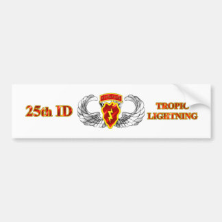 25th ID Airborne Tropic Lightning Bumper Stickers