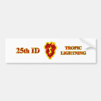 25th ID Tropic Lightning Bumper Sticker