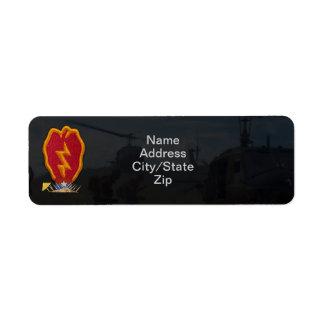 25th infantry division vietnam nam war patch return address label