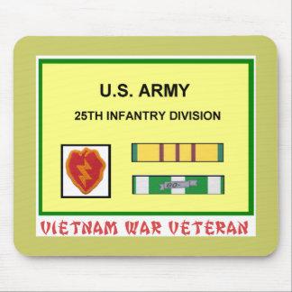 25th INFANTRY DIVISION VIETNAM WAR VET Mouse Pad
