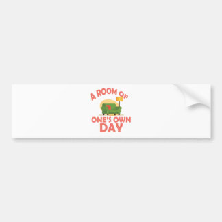 25th January - A Room Of One's Own Day Bumper Sticker
