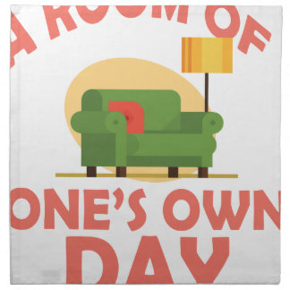 25th January - A Room Of One's Own Day Napkin