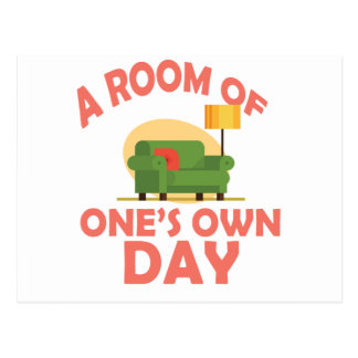 25th January - A Room Of One's Own Day Postcard