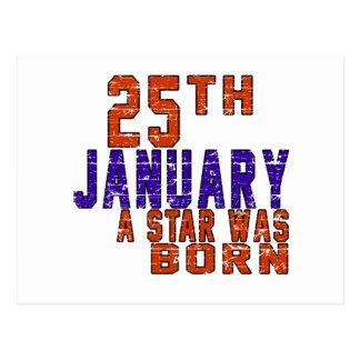 25th January a star was born Postcard