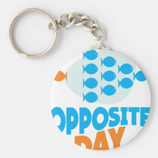 25th January - Opposite Day Basic Round Button Key Ring