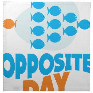 25th January - Opposite Day Napkin