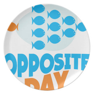 25th January - Opposite Day Party Plates