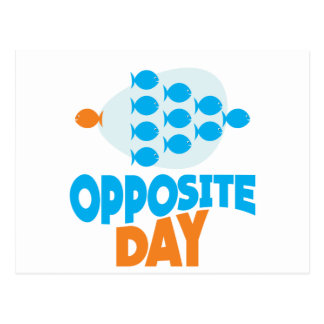25th January - Opposite Day Postcard