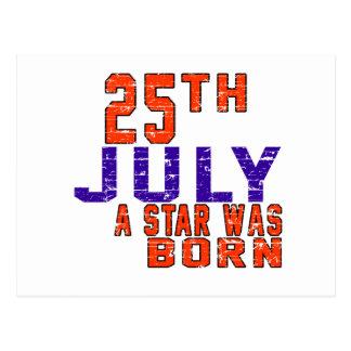 25th July a star was born Postcards