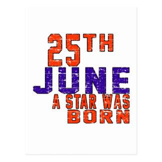 25th June a star was born Postcard
