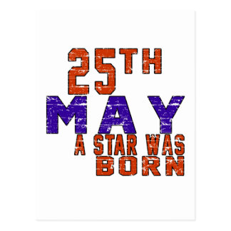 25th May a star was born Post Card