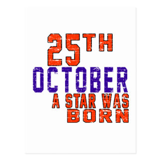 25th October a star was born Postcard