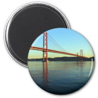 25th of April Bridge and the Tagus River, Lisbon Magnet
