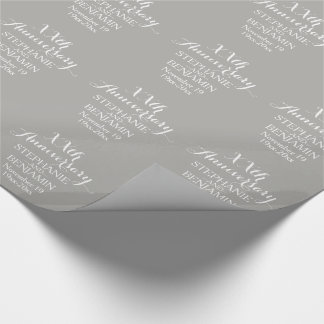 25th or Other Wedding Anniversary Personalized Wrapping Paper
