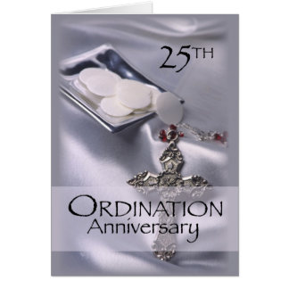 25th Ordination Anniversary Cross Host, Priest Card