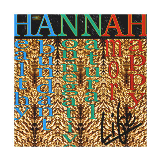 25th Quote; HANNAH Life Canvas Print