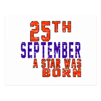 25th September a star was born Post Cards