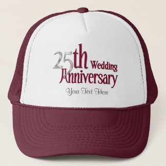 25th Silver and Burgundy Anniversary Trucker Hat