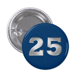 25th Silver Anniversary Buttons