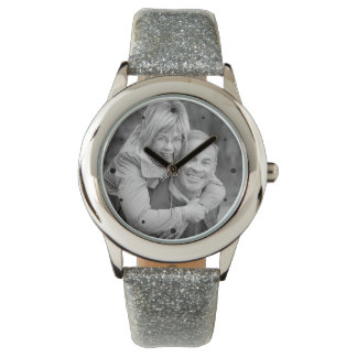 25th Silver Anniversary Photo Keepsake Watch
