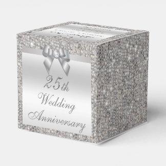 25th Silver Wedding Anniversary Custom Thank You Wedding Favour Box