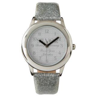 25th Silver Wedding Anniversary Custom Watch