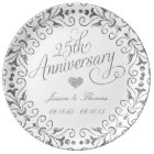 25th Silver Wedding Anniversary Decorative Plate
