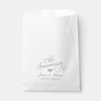 25th Silver Wedding Anniversary Favor Bag