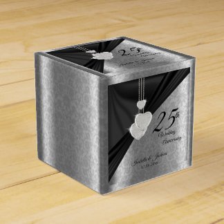 25th Silver Wedding Anniversary Favour Box