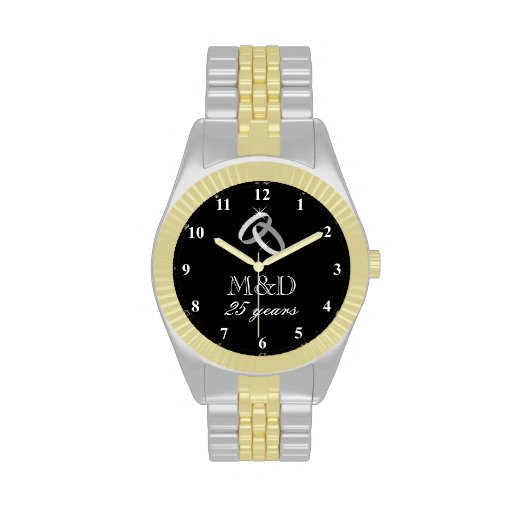 25th Anniversary Ideas For Husband: 25th Silver Wedding Anniversary Watch For Husband