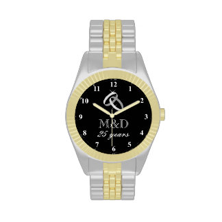 25th Silver wedding anniversary watch for husband