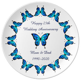 25th Wedding Anniversary by storeman. Plate