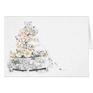 25th Wedding Anniversary Cake Card