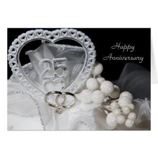 25th Wedding Anniversary Card