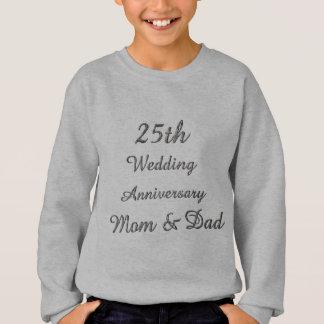25th Wedding Anniversary Chic Silver Typography Sweatshirt