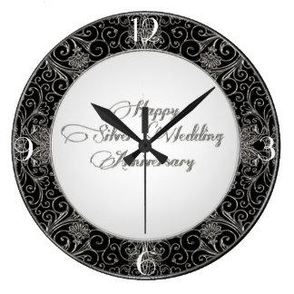 25th Wedding Anniversary Clock