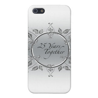 25th Wedding Anniversary Elegant Scrolls Cover For iPhone 5/5S
