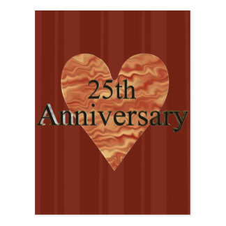 25th Wedding Anniversary Gifts Post Cards