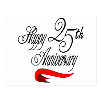 25th Wedding Anniversary Gifts Postcards