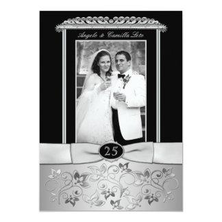 25th Wedding Anniversary Invitation with Photo