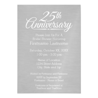 25th Wedding Anniversary Personalized Magnetic Invitations